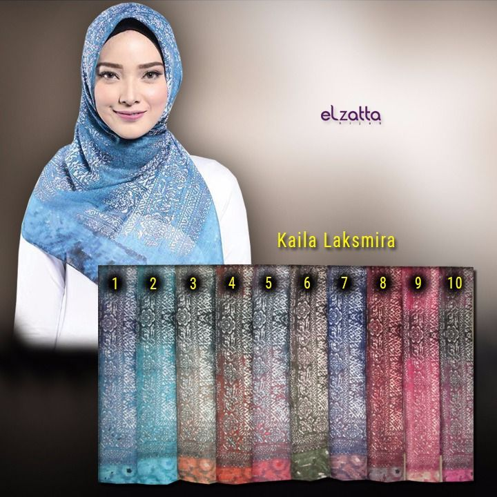 Jilbab Segi Empat Motif Corak Cantik Terbaru Elzatta Kaila Laksmira