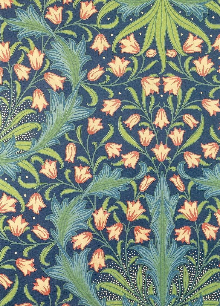 Harebell Pattern . postcard William Morris Ilustración