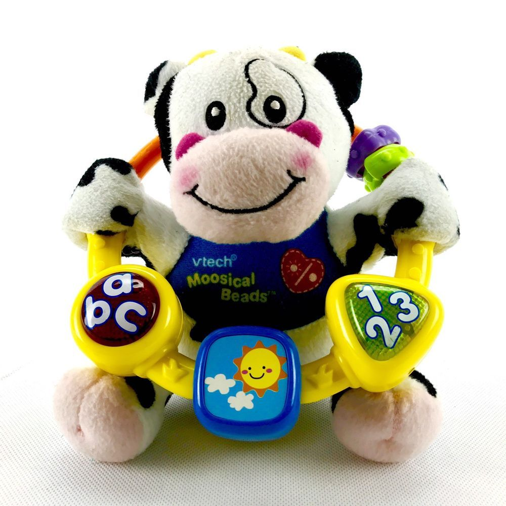 Baby toys images cartoon  Vtech Teddy Moosical Beads Toys Kids Baby Toy Lights Sound Play