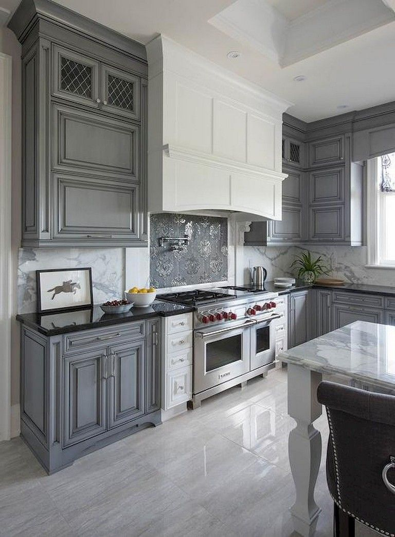 70 beautiful farmhouse kitchen cabinet makeover ideas farmhouse kitchen cabinets grey kitchen on farmhouse kitchen gray id=48642