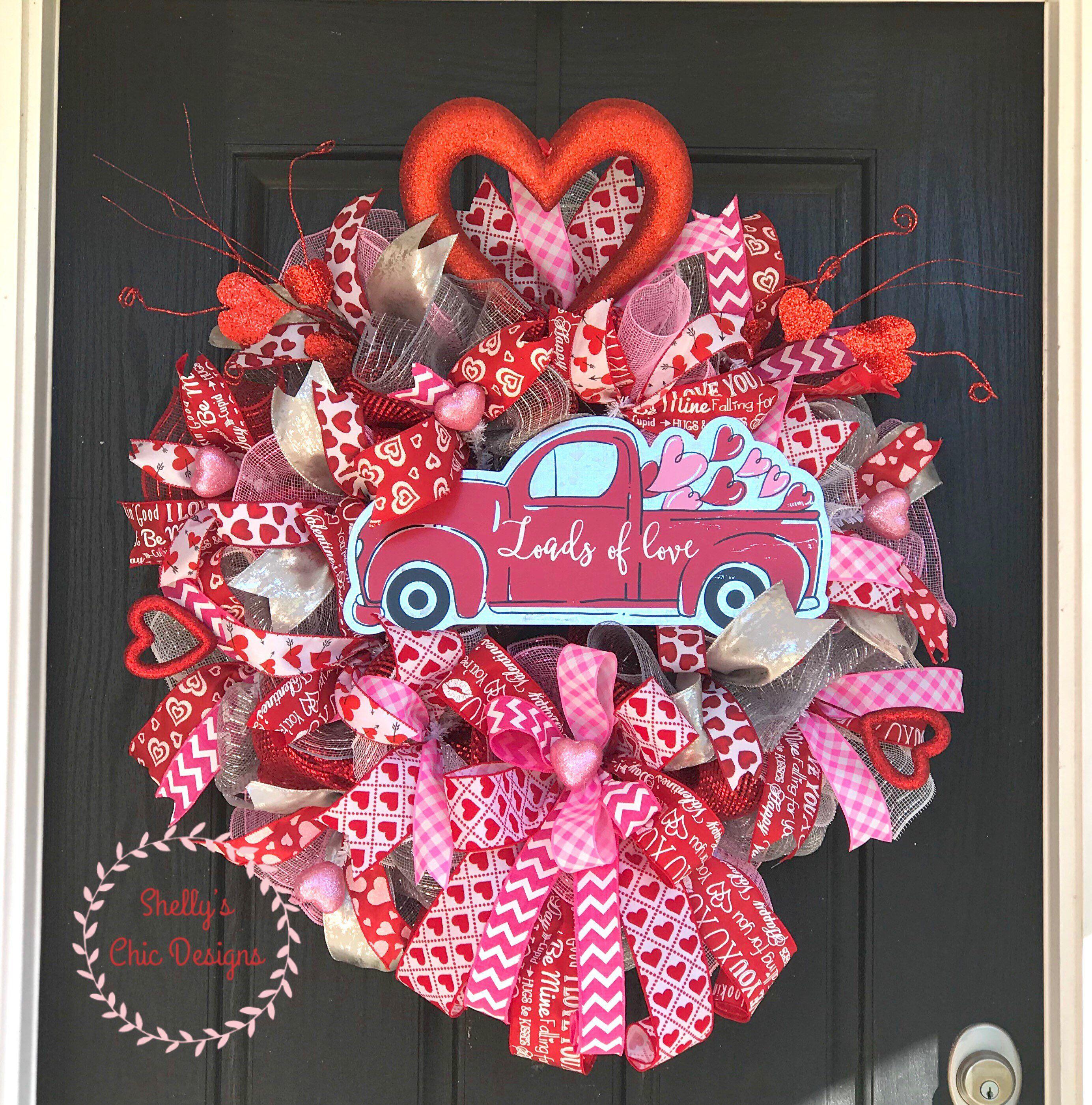 Valentines Wreath Valentine S Day Wreath Valentines Mesh Etsy Easter Mesh Wreaths Valentine Day Wreaths Valentine Wreath