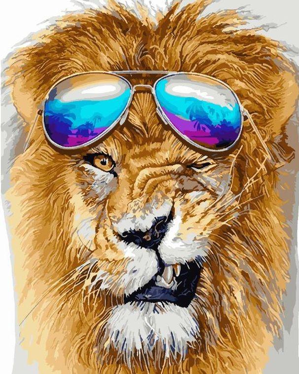 Модный лев   Лев картинки, Лев искусство, Лев живопись