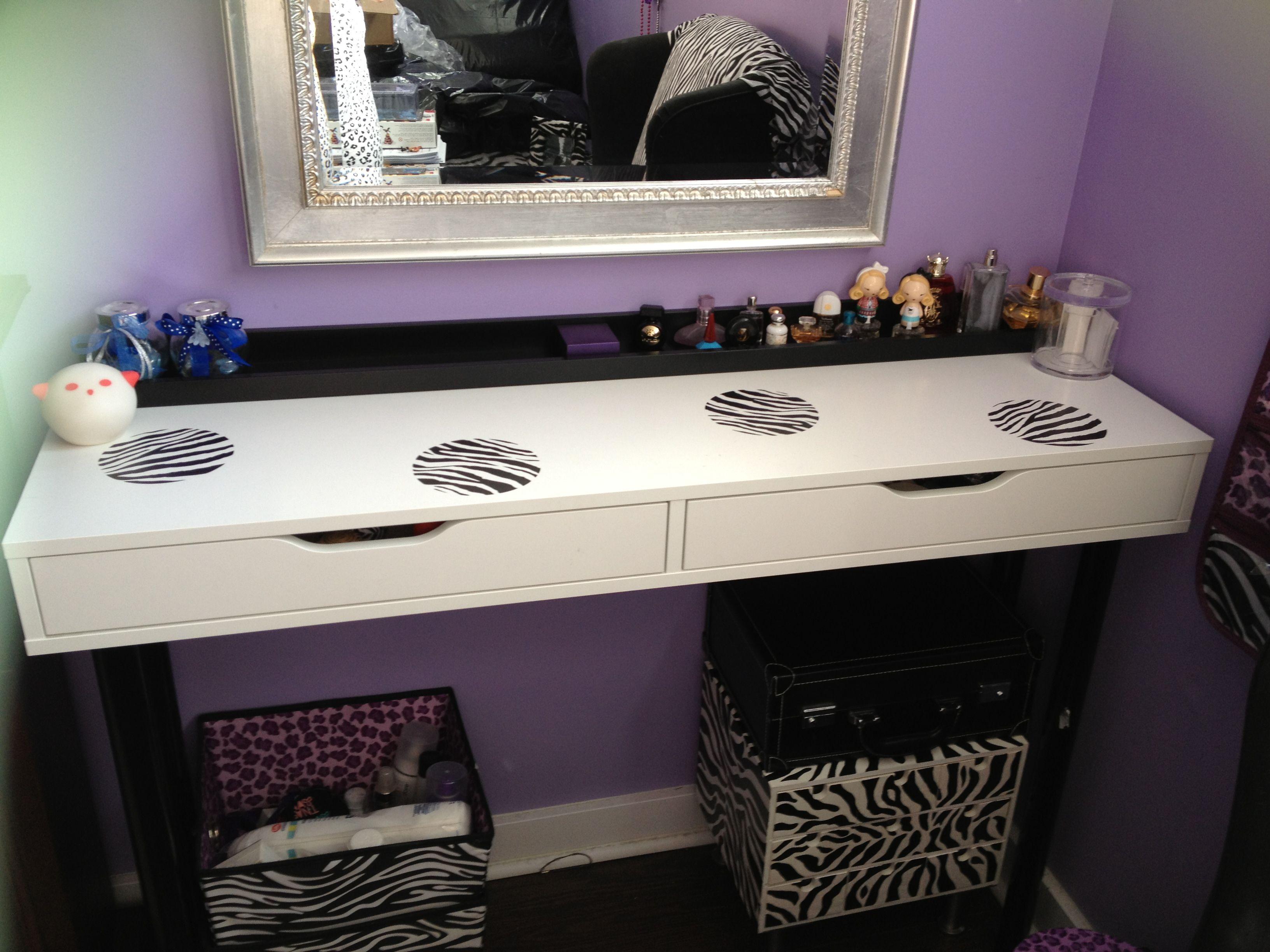 Room decor makeup table from ikea makeup geek pinterest room