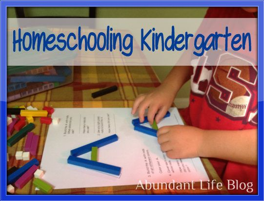 homeschool kindergarten - I like what is mentioned about Math-U-See