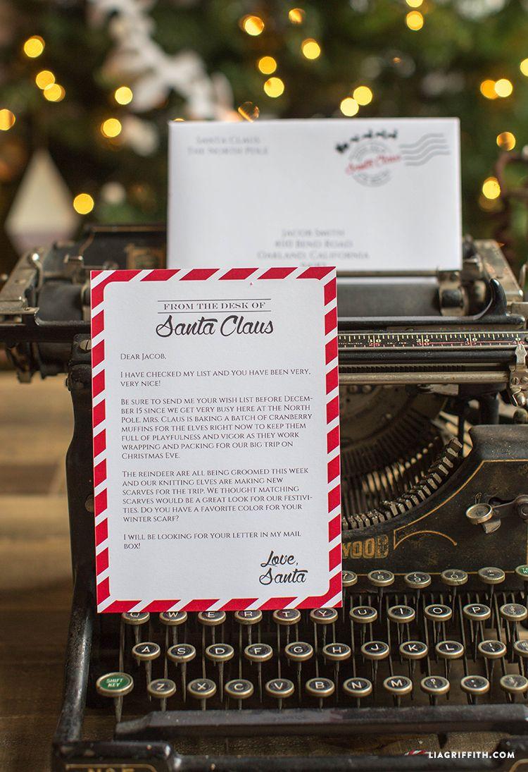 Editable Letter from Santa | Pinterest | Printable letters, Santa ...