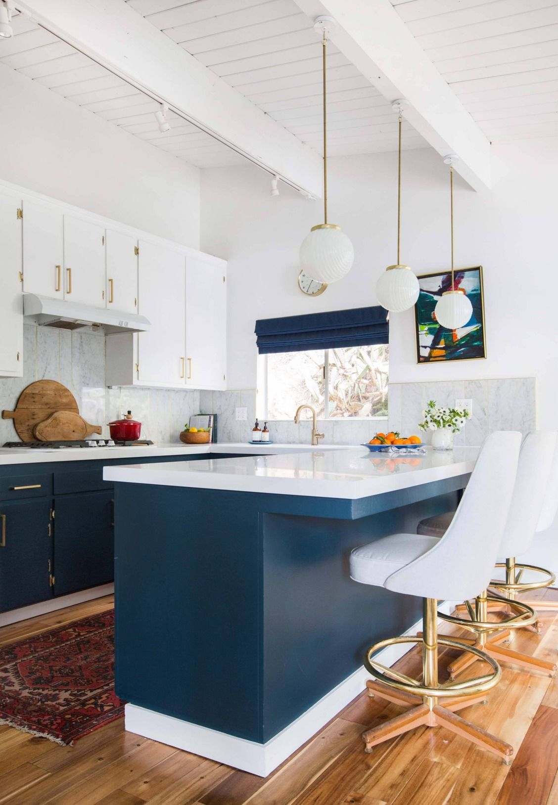 How We Styled Our Family Room and Kitchen to Sell   White counters ...