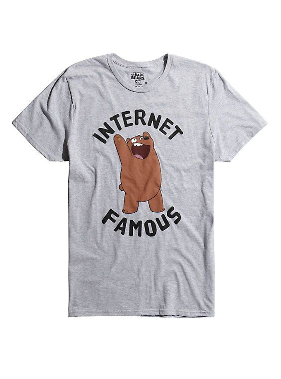 f441e23c42d We Bare Bears Internet Famous Grizz T-Shirt