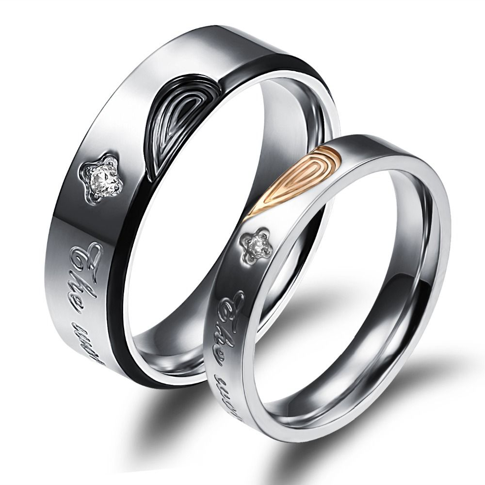 achetez en gros bague puzzle bande en ligne des grossistes bague couples wedding ringsheart - Puzzle Wedding Rings