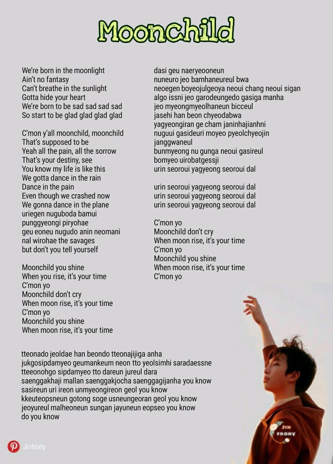 Lirik Lagu Let Go Bts : lirik, Moonchild, Lyrics, Kutipan, Lirik,, Lirik, Lagu,