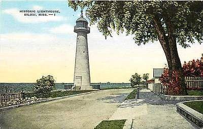 Mississippi Biloxi Lighthouse Beautiful 5 X 7 Postcard