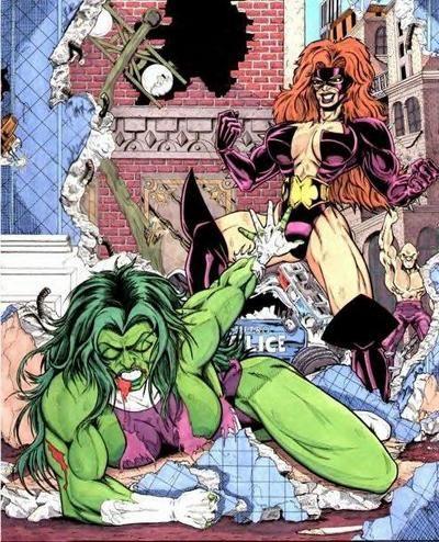titania beats up she hulk