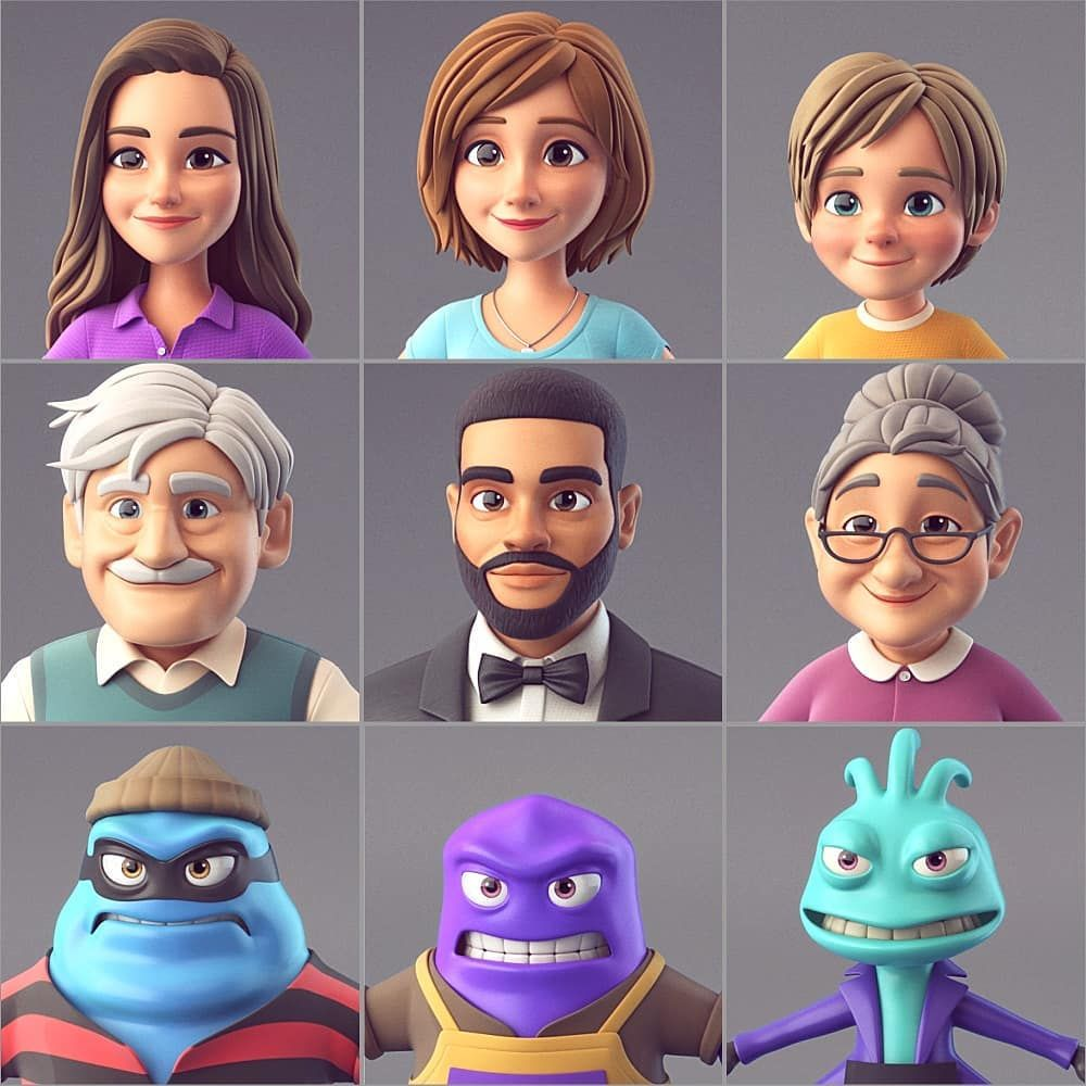 3d characters for future commercial animation