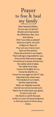Prayer to free & heal my family