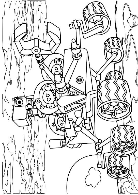 Coloring Page Angry Bird Space
