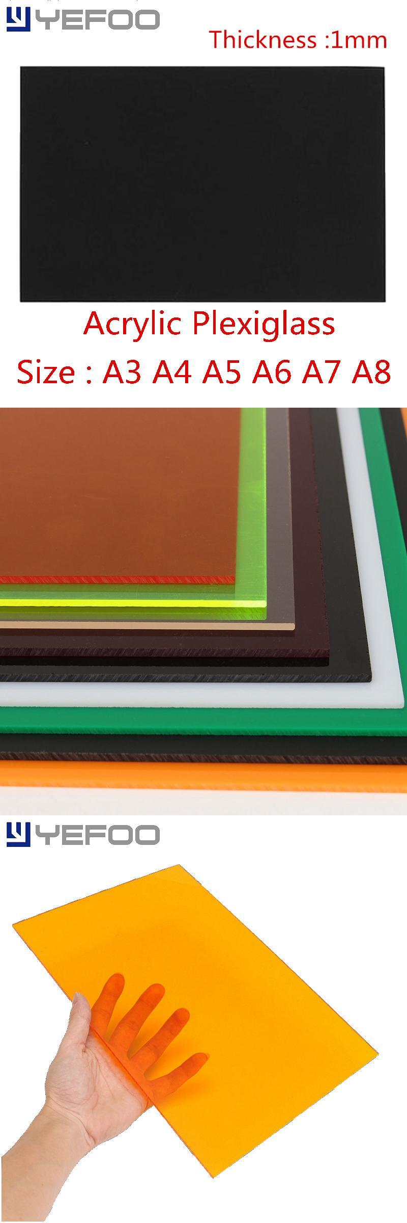 Visit To Buy 1mm Black Plastic Acrylic Plexiglass Perspex Sheet Pmma Plast A3 A4 A5 A6 A7 A8 Size 1mm 2mm 3mm 4mm 5mm 6mm 7m Perspex Sheet Plexiglass Perspex