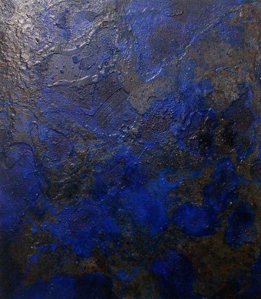 tableau peinture lapis lazuli terre outremer brillant abstrait acrylique texture min rale. Black Bedroom Furniture Sets. Home Design Ideas
