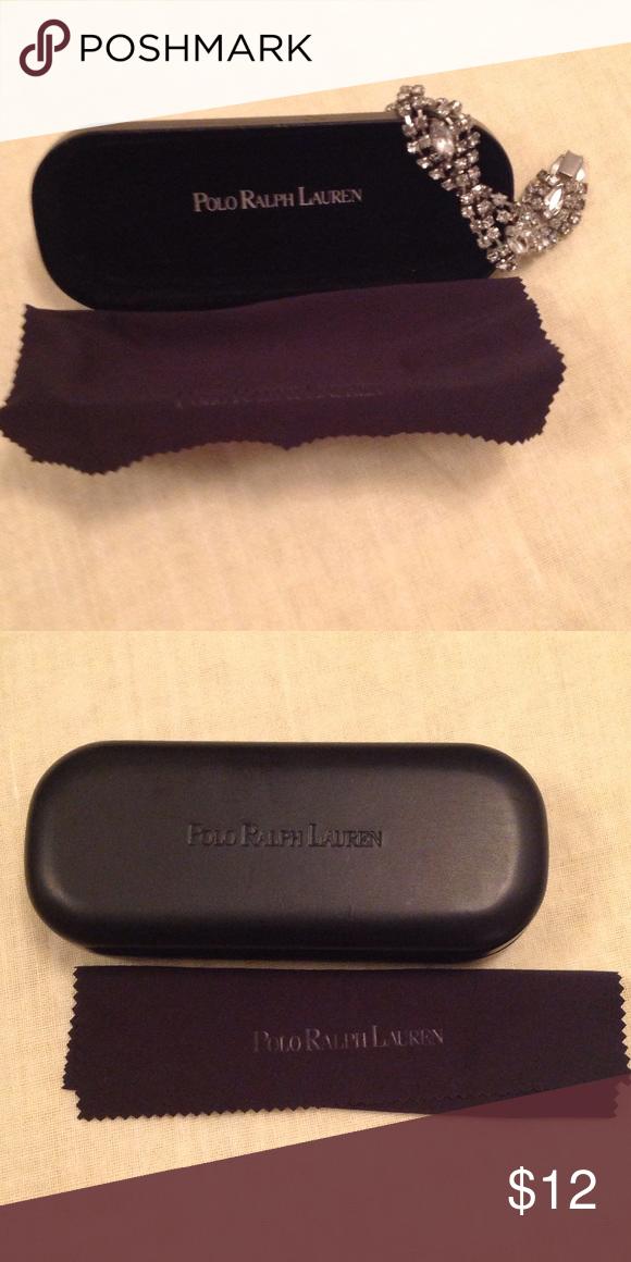 0b9f3c3f06c0 Polo Ralph Lauren eyeglass case Black eyeglass case with black eyewear  cleaning cloth Polo by Ralph Lauren Accessories Glasses