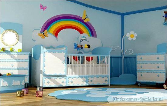 Behang Kinderkamer Regenboog : De regenboog kinderkamer kinderkamer marlijn kinderkamer