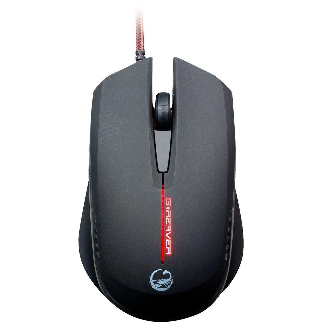 Mouse Gamer USB 2000DPI G-Reaver II Preto TEAM SCORPION - 51602