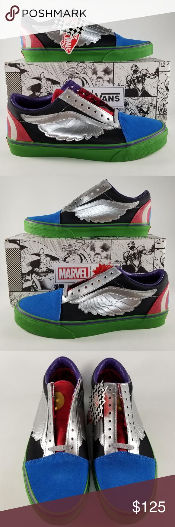 04385b8974a VANS X Marvel Old Skool Avengers Men s Sneakers 10 VANS X Marvel Old Skool  Men s Sneakers Limited Edition