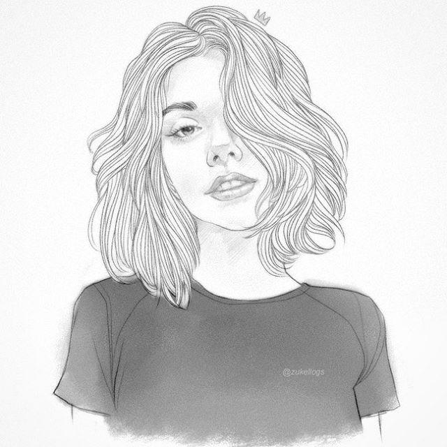 Zukellogs Photos Et Videos Instagram Garotas De Cabelo Curto Desenho De Menina Desenho De Cabelo