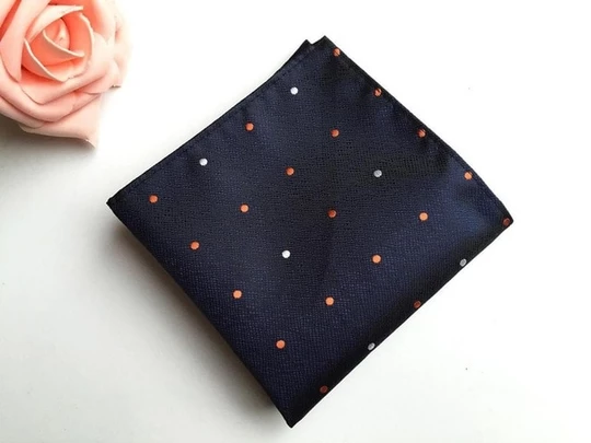 Mantieqingway 25*25cm Men's Business Suits Pocket Square Handkerchiefs for Wedding Fashion Polka Dots Hankies Mens Pocket Towel #pocketsquares