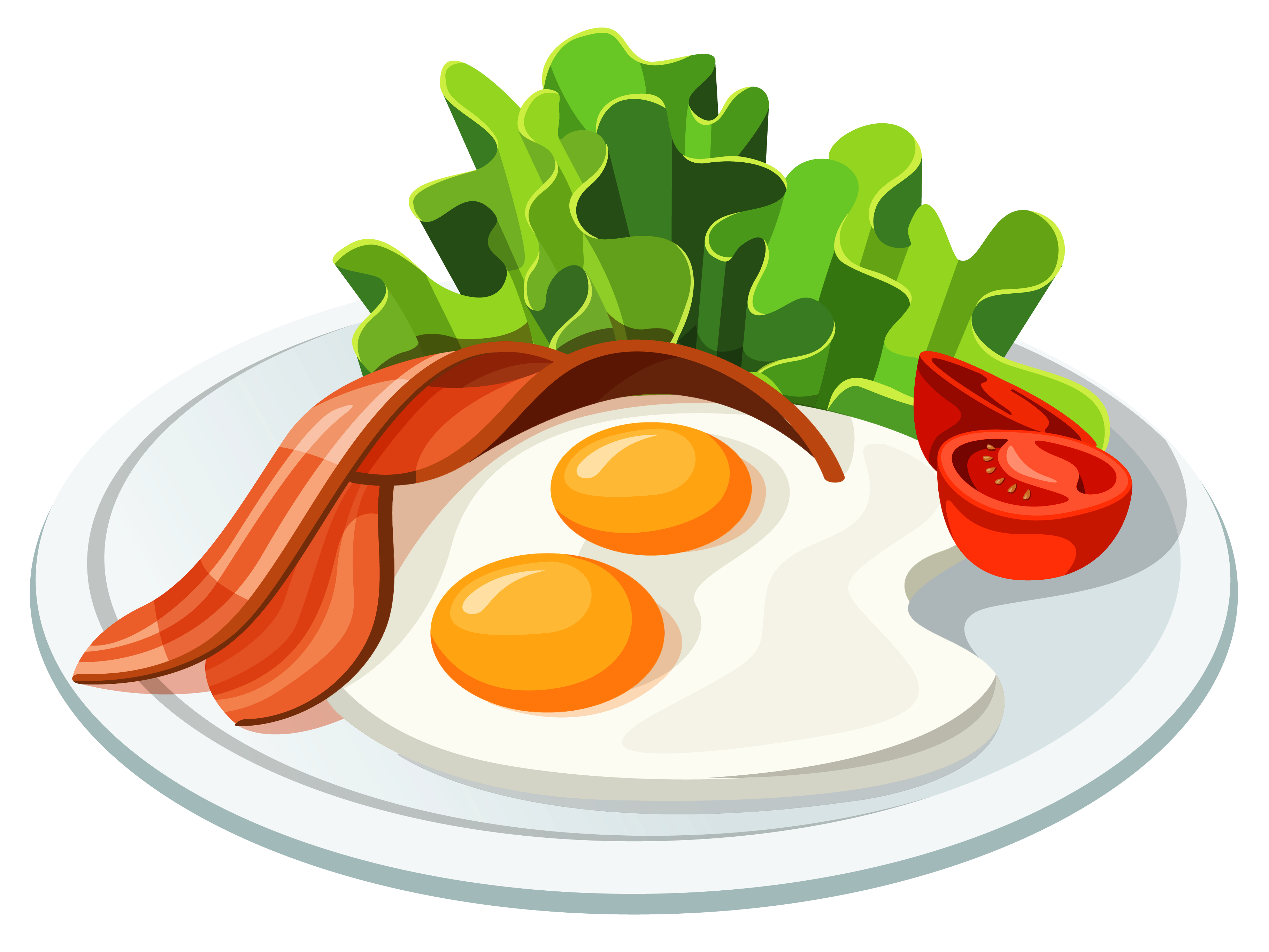 Eggs and Bacon PNG Vector Clipart งานฝีมือ, ไข่, สอน