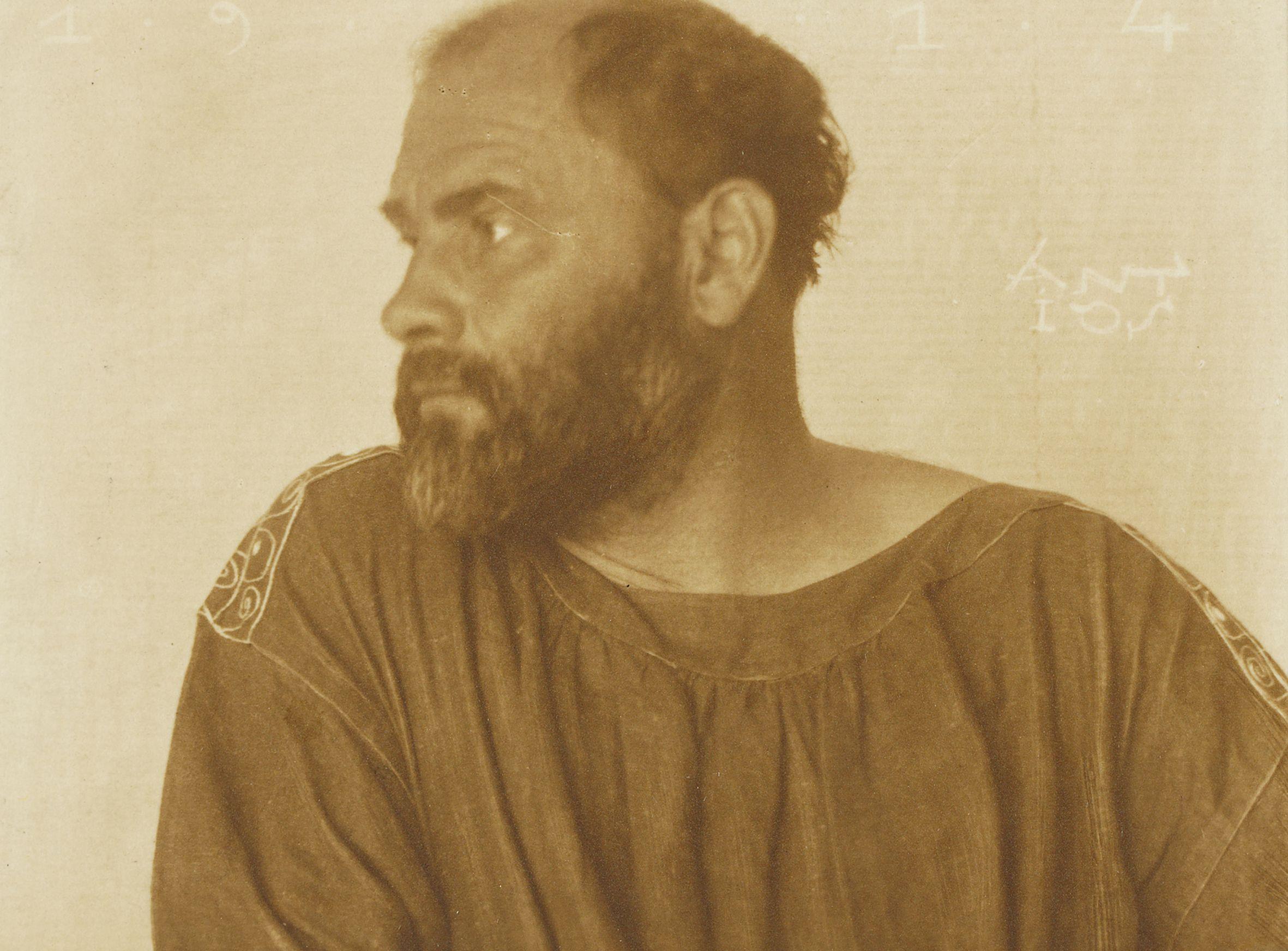 Gustav Klimt by Josef Anton Trcka, 1914