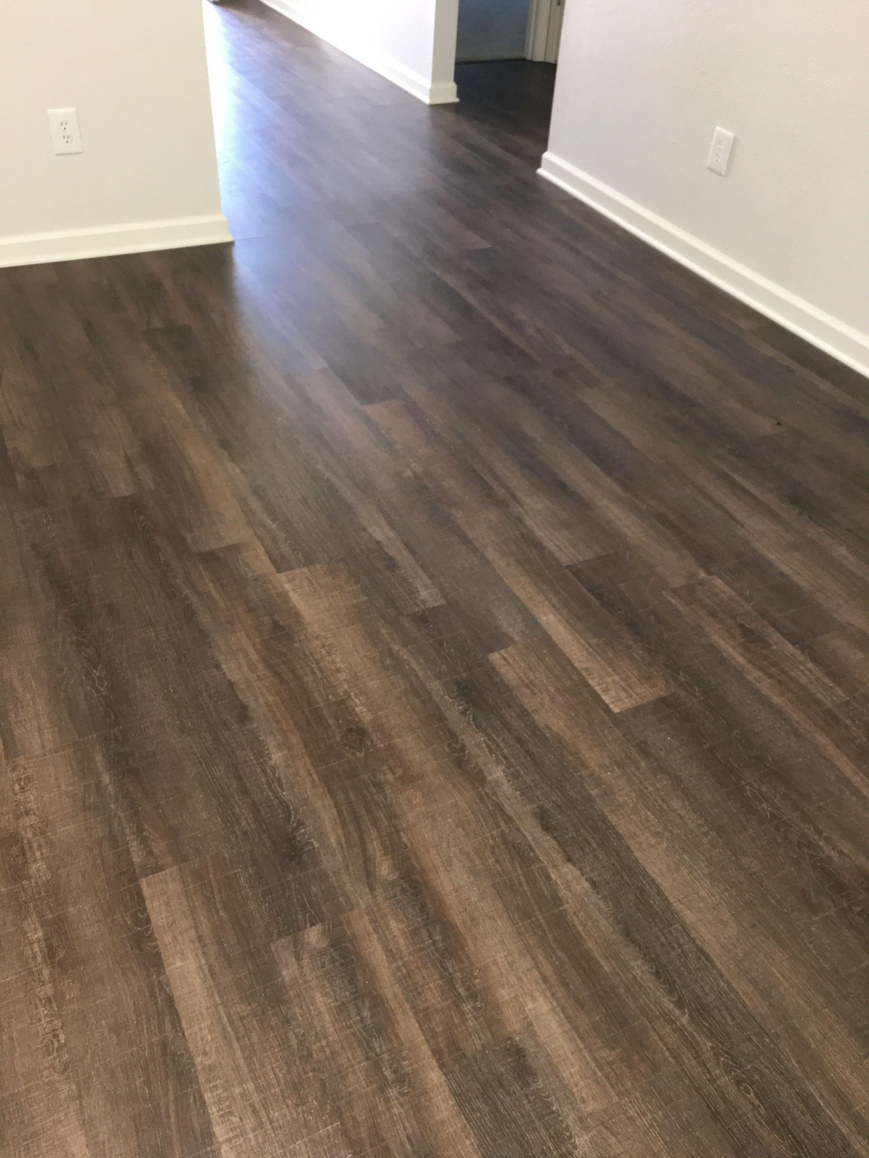 "floor shaw classico LVT, color ""pontile""; walls sherwin"