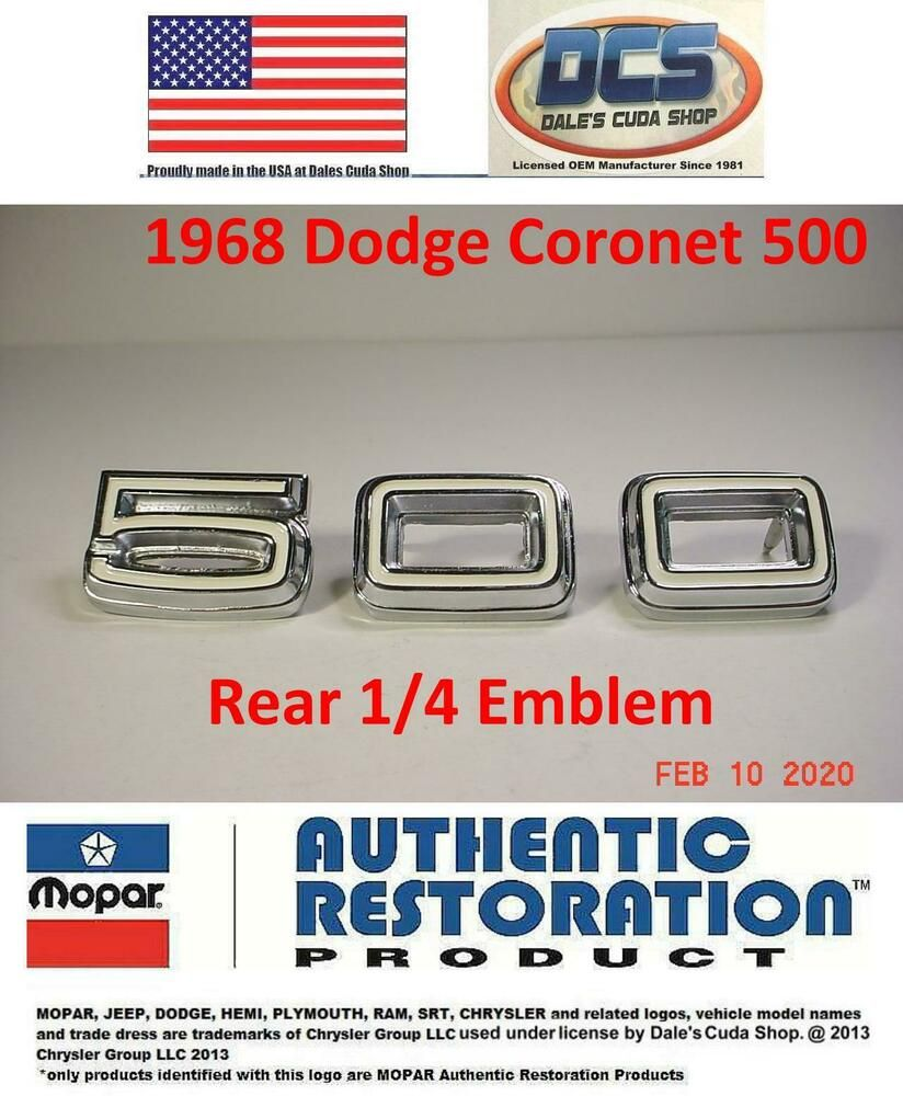 1968-1969 Dodge Plymouth A /& B-Body Outer door handles black buttons and gaskets