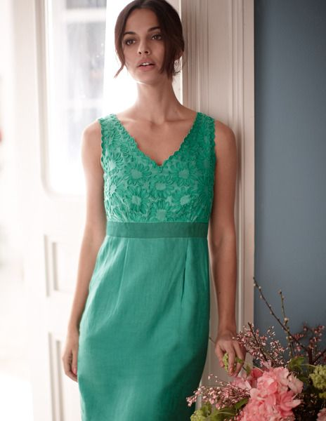 Embroidered Linen Dress From £96.75 #boded
