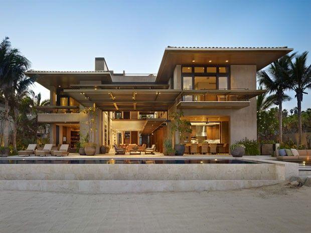 Casa reverencia a areia e o mar - Casa Vogue | Interiores
