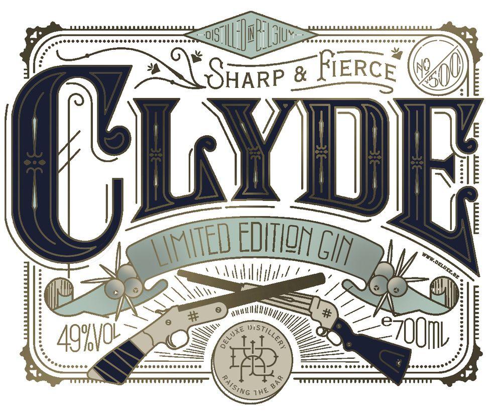 Bonnie clyde vintage typography vintage lettering