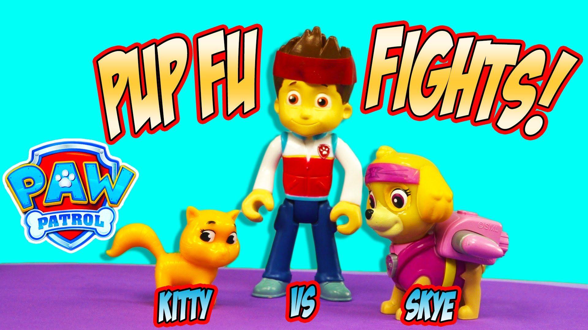 PAW PATROL PUP FU KUNG FU FIGHTS PRECIOUS THE KITTY VS