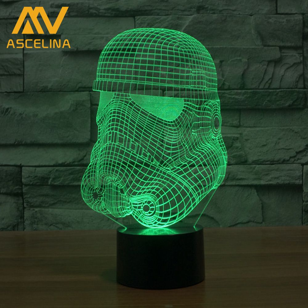 3d Led Table Lamp Star Wars The Force Awakens 3d Led Optical Illusions Artistic Lamp Stormtrooper Design Colorfu 3d Led Night Light Color Changing Led 3d Light