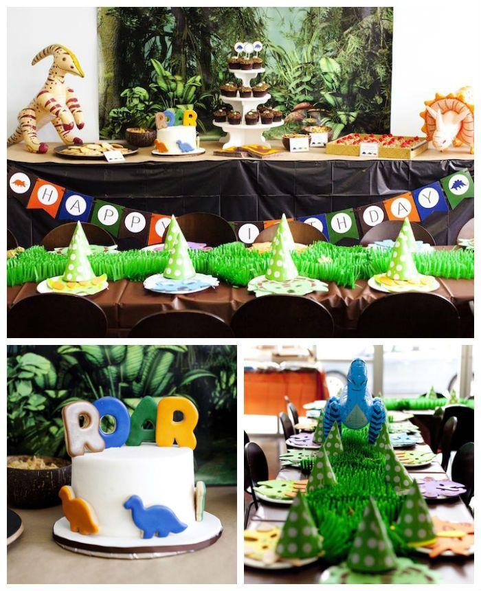 Roaring Dinosaur Birthday Party via Karas Party Ideas The Place