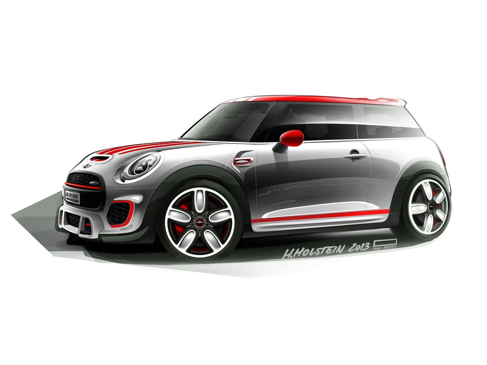 Mini John Cooper Works Concept Sketch Car Body Design Sketch