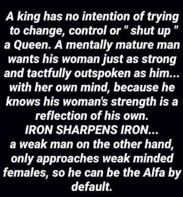 Amen Dre When A King Queen Are One Pinterest Love Quotes Beauteous King And Queen Love Quotes
