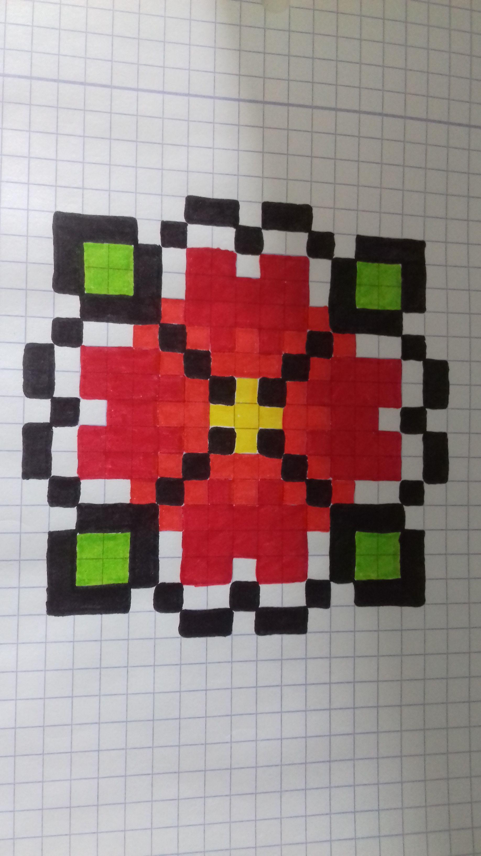 Epingle Par Luli 22 Sur Desene Dessin Petit Carreau Dessin Pixel Art Facile Coloriage Pixel