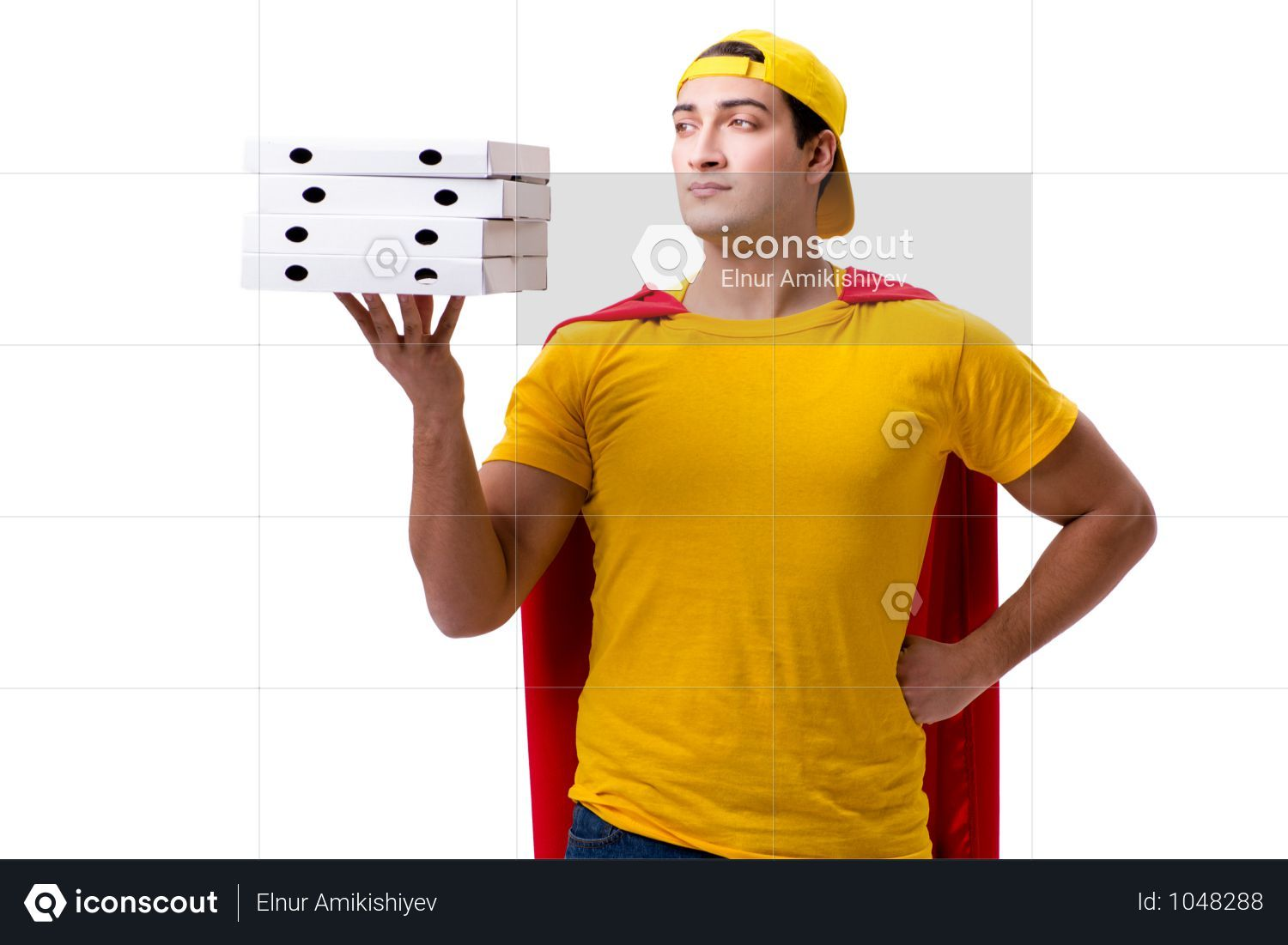 Premium Super Hero Pizza Delivery Guy Isolated On White Photo Download In Png Jpg Format In 2020 Pizza Delivery Guy Pizza Delivery Delivery Photos