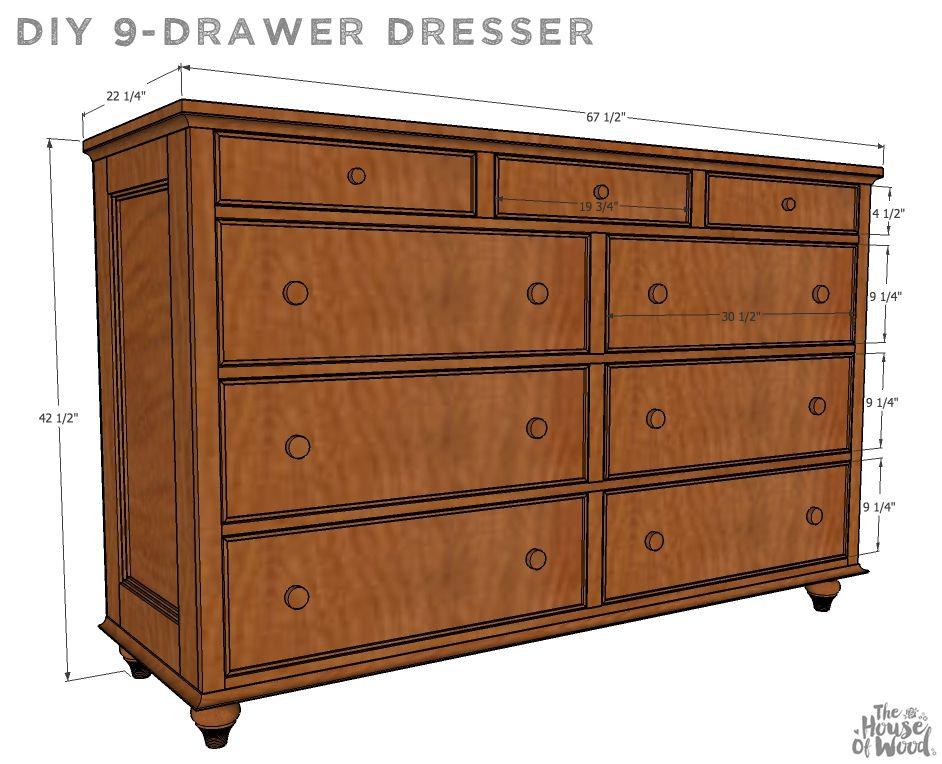 9 Drawer Dresser Plans Dining Furniture Makeover 9 Drawer