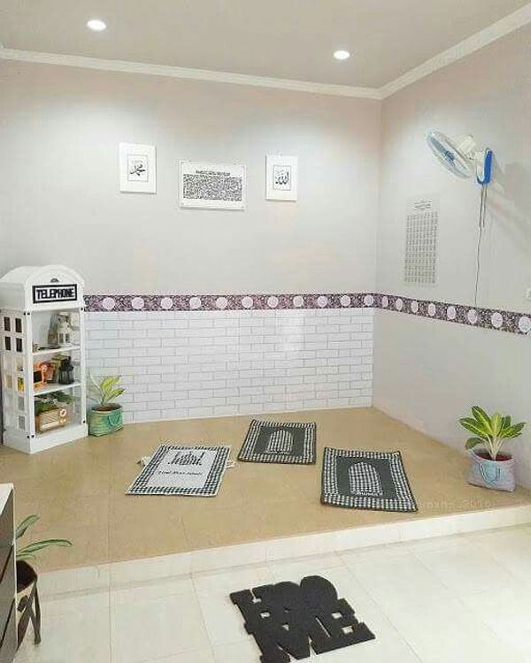 30 Praying Room Ideas To Bring Your Ramadan More Beautiful Home Entrance Decor Prayer Room Muslim Prayer Room Ideas