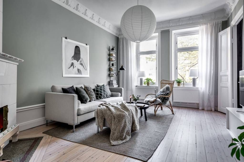 Cozy Home With Soft Green Walls Interiors S M A L L S