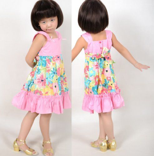 New Girls Dress Pink Tank Sundress Christmas Child Clothes Size 12M-6  Price : $11.90 http://www.sunnystoreworld.com/Girls-Dress-Sundress-Christmas-Clothes/dp/B00BLUY6DK