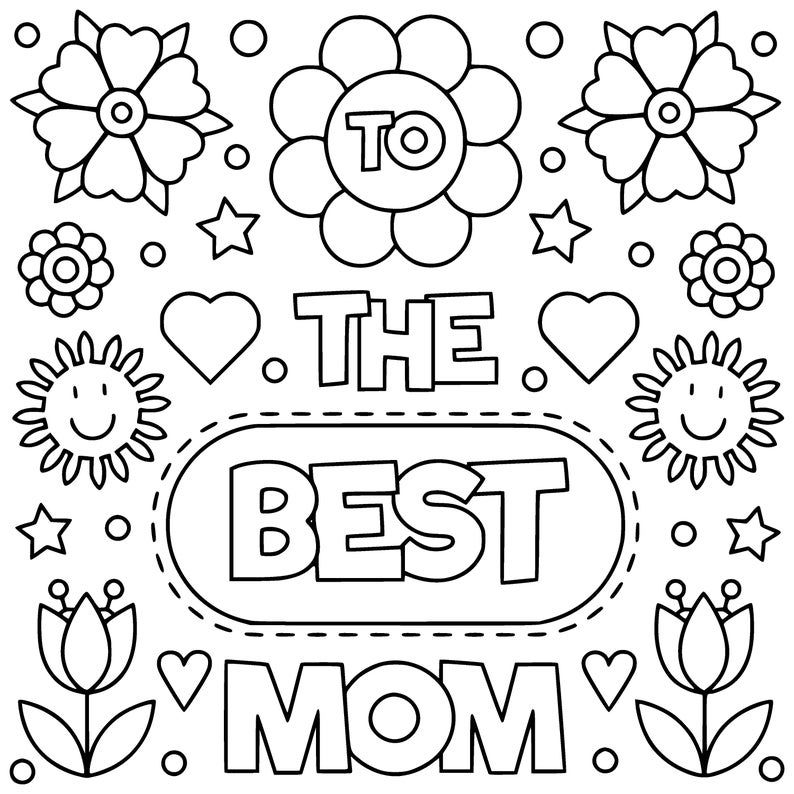 Printable Cards For Mom Digital Coloring I Love Mom Cards Mom Birthday Diy Card In 2021 Mothers Day Coloring Pages Mom Coloring Pages Mom Cards