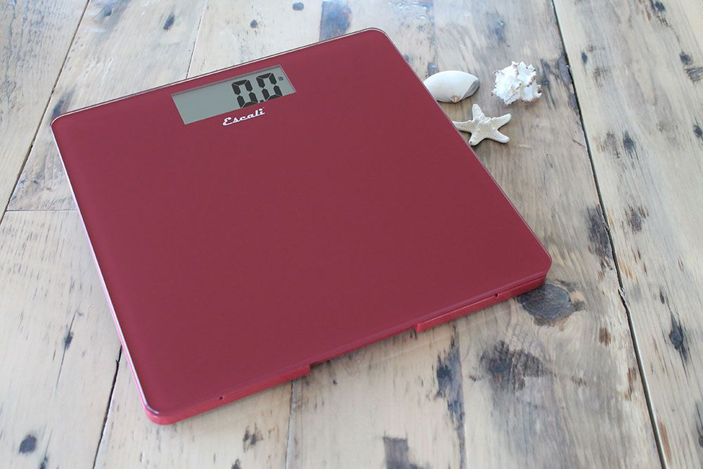 Square B180 Series bath scale in Rio Red