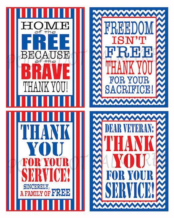 INSTANT DOWNLOAD Printable Veteran Military Patriotic ...