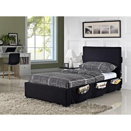 Cargo Twin Platform Bed, Black - Walmart.com   ཞɛɖƙıɖʂ ųƖɬıɱąɬɛ ...