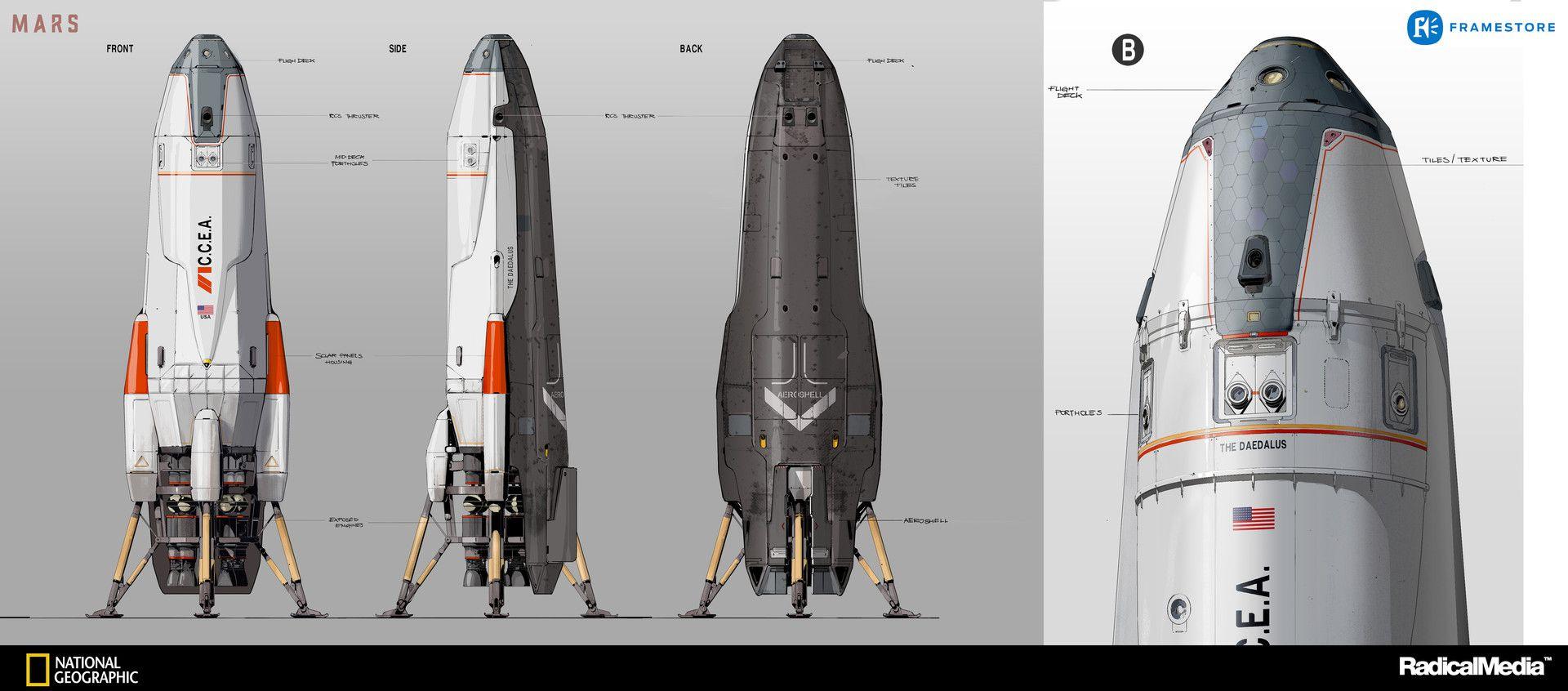 Artstation Mars The Daedalus Oscar Cafaro Vehicles