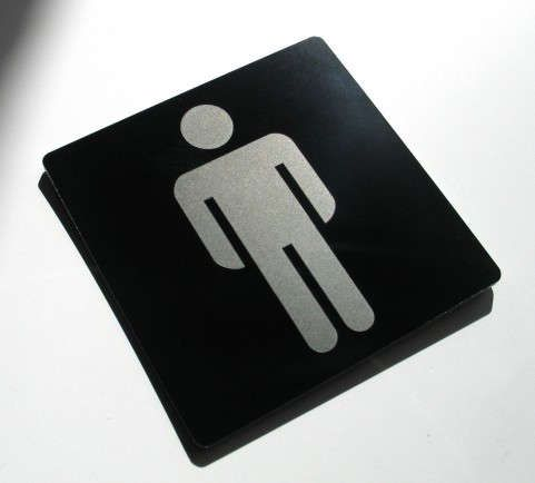 Virgin Mary Clock Signage - Commercial bathroom signs